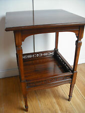 Edwardian Chinese Style Rosewood Occasional Table w/Fretwork Gallery [side/small