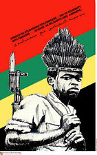 Political cuban POSTER.ZIMBABWE young Rebel.AFRICA.a55.Socialism History art