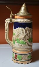 """Vintage Beer Stein with Music Box - 10 1/2"""" tall"""