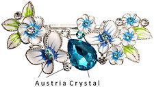 Süße & edle Haarspange mit Türkis Austria Crystal NEU - Viel mehr im Shop!!!
