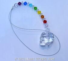 m/w Swarovski Grateful Dead Skull Suncatcher + Chakra Strand Lilli Heart Designs