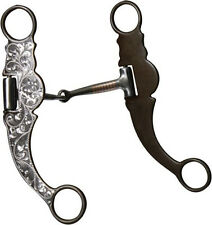 SHOWMAN  Snaffle Engraved Silver Show Bit   ~ horse tack