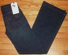 p2800 NWT $180 Sz 25 27x33 Dk Blue DAUGHTERS OF THE LIBERATION Flare Jeans!