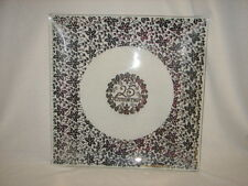 HUGE 25tth Anniversary Sterling Silver Overlay Crystal TRAY - 25 th Anniversary