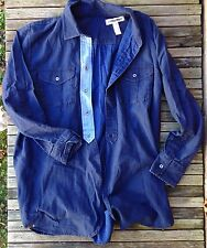 NEW Madewell Rivet & Thread Alexa Chung Chambray Top Blouse Jcrew S Small Denim