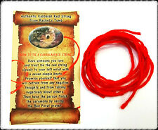 5 KABBALAH Bracelets Wool Red String Evil Eye Protection with Blessing Card