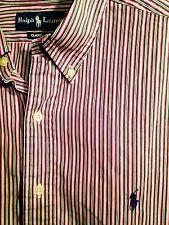 ***Nice 17.5 34/35 POLO Ralph Lauren RL Adult Mens XL Sport Dress Shirt Long Slv