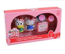 New Super Cute Hello Kitty Kids 2pcs DIY Rubber Stamper Stamps Set Gifts