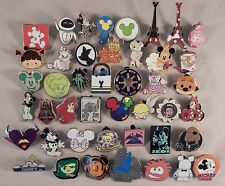 Disney Pin Trading Lot of 50 Assorted Collectible Pins - No Doubles - TRADABLE
