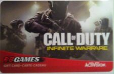 EB Games COLLECTIBLE GIFT CARD call of duty INFINITE WARFARE NO VALUE RECHARGE..