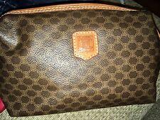 Vintage Celine Leather MakeUp  Clutch Bag
