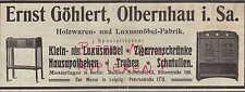 OLBERNHAU, Werbung 1908, Ernst Göhlert Holz-Waren-Luxus-Möbel-Fabrik Zigaretten-