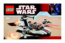 LEGO STAR WARS REBEL SCOUT SPEEDER #7668 4 REBEL FIGURES 100% COMPLETE GUARANTEE