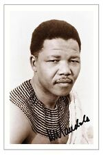 NELSON MANDELA AUTOGRAPH SIGNED PHOTO PRINT SOUTH AFRICA
