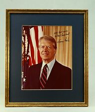 * Original SIGNED Photograph of US President Jimmy Carter Autograph, Framed