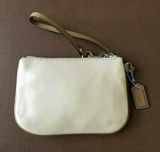NEW Coach Zip Top Bone Toffee Leather Small Purse Bag Wristlet