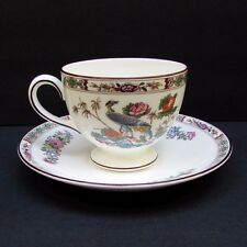 Wedgwood Kutani Crane Footed Cup & Saucer   R4464  Bone China