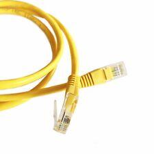 5M (16.4ft) Yellow Ethernet Cable Cat5e RJ45 Network Lan Patch Lead 100% Copper