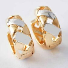 yellow gold filled fashion silver jewelry Weave hoop earrings for women/girl