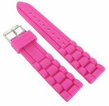 20mm Trendy Dark Pink Rubber Silicone Waterproof Watch Band Strap