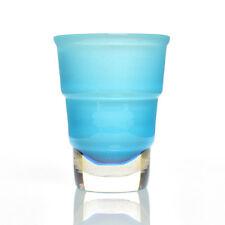 GINO Cenedese & C. - LARGE BLU E ORO FOGLIA a costine sommerso vase-Murano glass