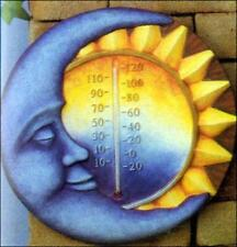 """Ceramic bisque Scioto Moon and Sun Thermometer 12"""" ready to paint"""