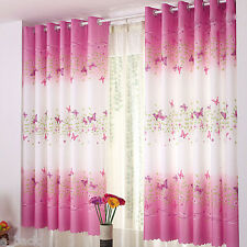 2016 Sale Butterfly Calico Finished Product Cloth Window Screens Curtain Couple