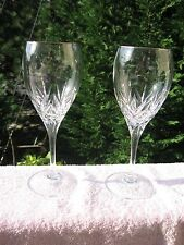 Cut Crystal Wine Glasses  with gold rim