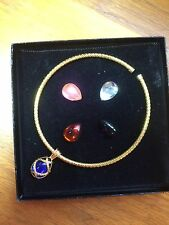 Joan Rivers Classic Collection Egg Necklace Changeable Multi Colors