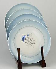 Set of 2 Dessert / Pie Plates, SUPERB! Cornflower Blue, Bing & Grondahl, Denmark