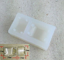Rectangle Cabochon Silicon 4 Holes Mold Mould Epoxy Resin Jewelry Pendant Making