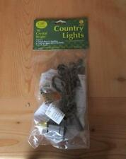 Light String Brown Cord  ~ Clear lights  ~ Light Strand 10 count