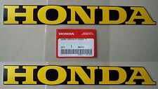 Honda Fairing Belly Pan Decal Stickers x 2 YELLOW / BLACK *GENUINE HONDA*