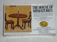 """House Of Miniatures Dollhouse Furniture Kit 1"""" Scale Round Table #40005"""
