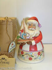 JIM SHORE HEARTWOOD CREEK CHRISTMAS SPIRIT FILLS MY SAILS SANTA BOAT 4022912