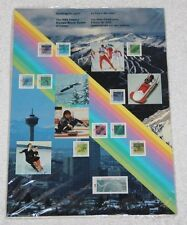 CATCHING THE SPIRIT THE 1988 CALGARY OLYMPIC WINTER GAMES IN STAMPS, NEW SEALED