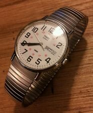 "vintage 1984 Timex quartz military edition men's watch "" NEW OLD STOCK"""