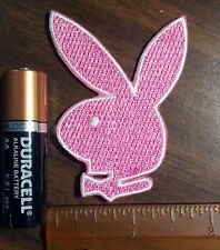 Pink Playboy Bunny Fabric Patch Embroidered Edge Iron on or Sew on