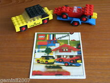 LEGO SET 650-1 Car with Trailer & Racing Car Vintage (1972) Complete NO BOX  VGC