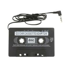 Black Car Cassette Casette Tape 3.5mm AUX Audio Adapter MP3 MP4 Player