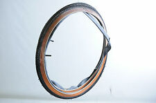 "PAIR 24 x1 3/8"" VINTAGE JUNIOR RACING BIKE TYRES + TUBES  AMBER WALL STAINED"