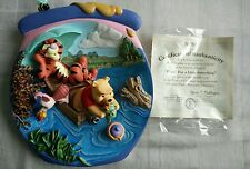 "Bradford Exchange 3D Plate Pooh's Honeypot ""Fishin' for a Little Something"""