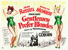 """GENTLEMEN PREFER BLONDS""....Classic Movie Poster A1A2A3A4 Sizes"