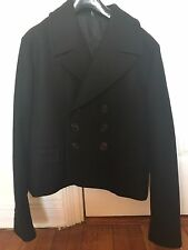 Dior Homme 06AW Black Cropped Pea Coat Jacket Size EU50 Final Sale