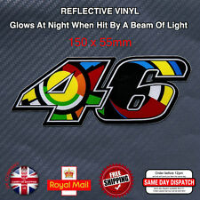 Valentino Rossi 46 Motorcycle Sticker Decals Reflective Vinyl 150mm F503