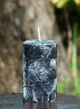 40hr BLACK COCONUT Natural PILLAR Candle TRIPLE SCENTED Crystal Effects GIFTS