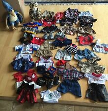 Lot build a bear workshop BOYS Dino And Leopard   Spider Man Batman Clothes Shoe
