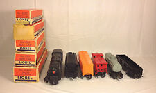 Lionel 681 6 8 6 Pennsylvania Turbine Locomotive 2671W Coal Tender Cars & Boxes