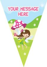 BP37 Fairy 10 Flag bunting party decoration 3m Personalised