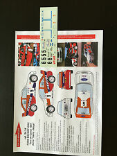DECALS 1/24 FORD ESCORT WRC CARLOS SAINZ RALLYE TOUR DE CORSE FRANCE 1997 RALLY